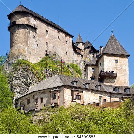 Oravsky Podzamok, Slovakia - May 10, 2008: Most beautiful castle in Slovakia.