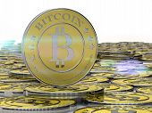 one or more bitcoins, bit coin, BTC the new successful virtual money poster