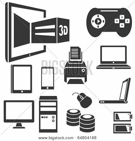 computer and electronics icons
