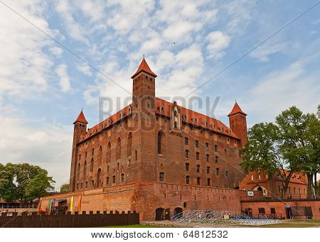 Mewe castle (circa XIV c.) the medieval Ordensburg fortress of Teutonic Order. Gniew town Pomeranian Voivodeship Poland poster
