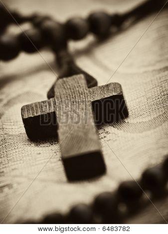 Wooden Rosary Cross