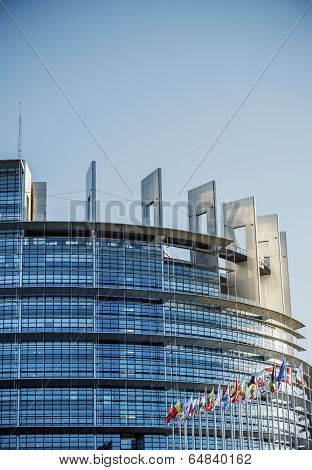 Seat Of The European Parliament In Strasbourg