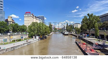 Danube Canal of Vienna