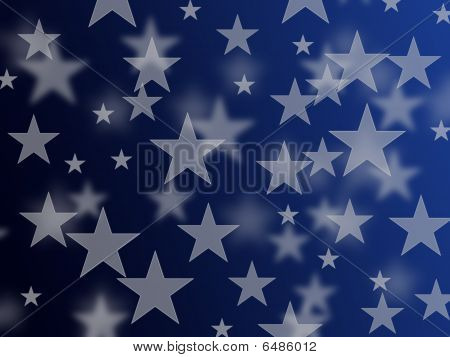 silver star with blue background