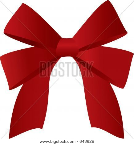 Red Bow Illustration