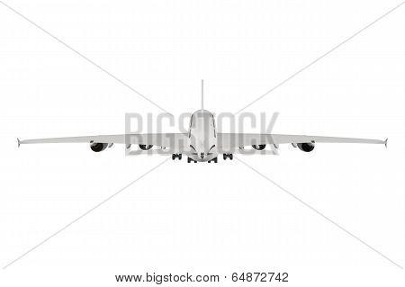 Passenger airplane isolated on white background