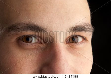 Closeup Of Eyes Of Young Man