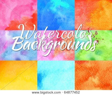 Watercolor backgrounds vector