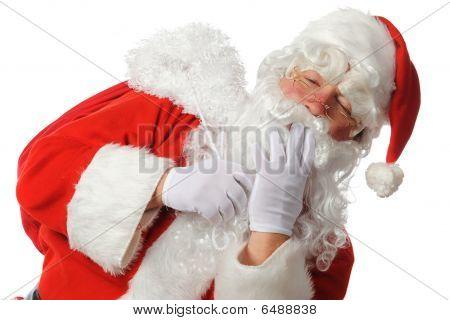 Yawning Santa