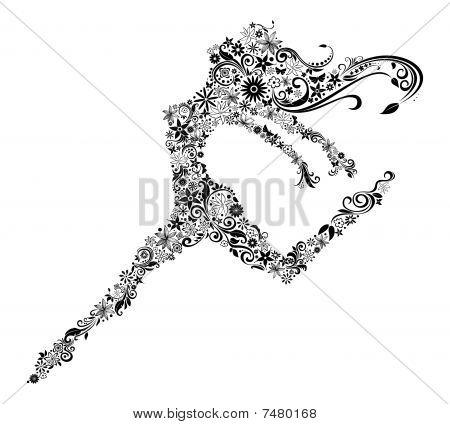 Flower Woman Jump.