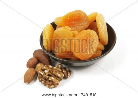 Dried Apricots And Nuts