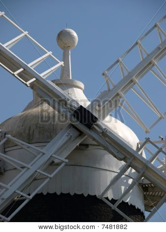 Close up of windmill