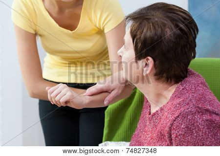 Woman Needs To Help During Standing