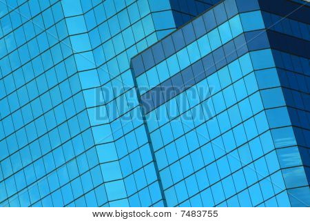 abstract blue windows