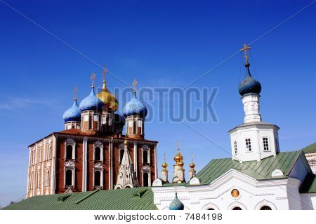 Ryazan Kremlin was built in the seventeenth - eighteenth centuries and well preserved its former appearance poster