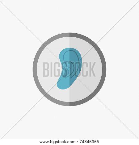 Ear Flat Icon