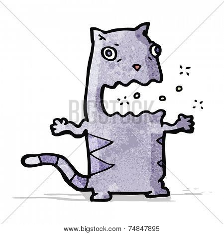 cartoon belching cat