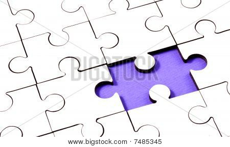 Jigsaw With Piece Missing