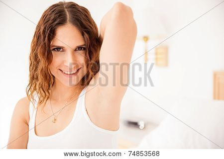 Pretty Girl With Smooth Armpits