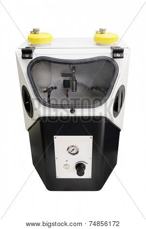 sandblasting machine for dentistry under the white background