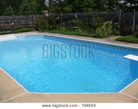 Swimming pool scene