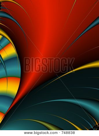 Abstract digital illustration. Bright tornado. poster