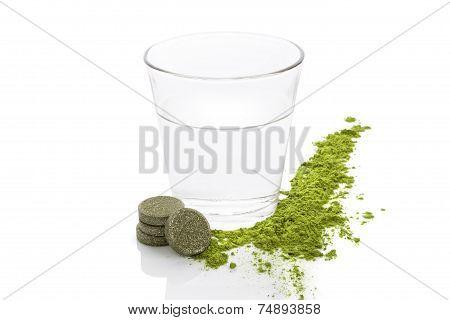 Spirulina, Chlorella And Young Barley