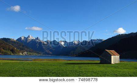 Shed At Lake Sihlsee
