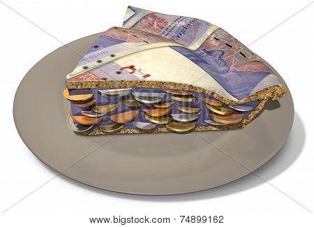 Slice Of Pound Money Pie