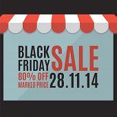 Black friday sale background. Store concept. Vector illustration poster