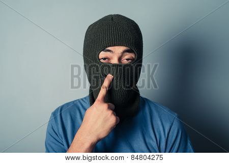 Stupid Man Wearing A Balaclava