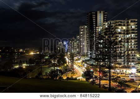 Gold Coast Coolangatta CBD nightscape