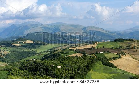 Summer landscape from Camerino (Macerata Marches Italy) poster