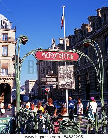 Chatelet Metro Station.
