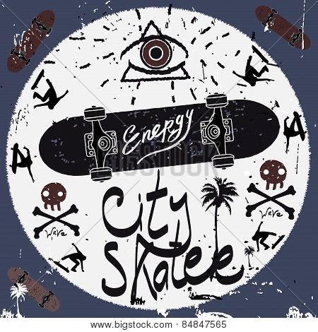 Vintage Label, skateboard style