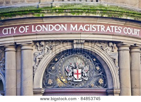 London, United Kingdom - 29th DEC 2013: City of London Magistrates Court building
