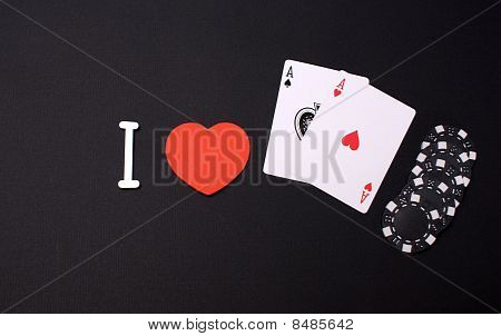 Poker in a grafic design