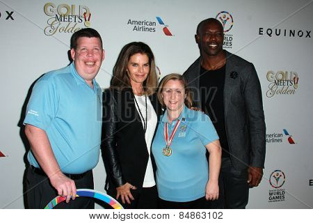 LOS ANGELES - FEB 21:  Maria Shriver, Terrell Owens at the 3rd