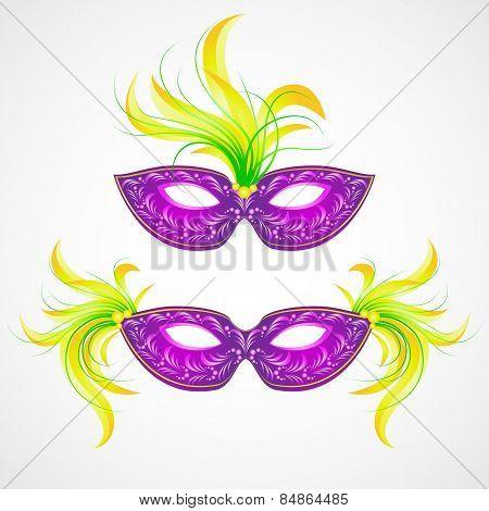 Mardi Gras carnival mask. Vector illustration EPS 10 poster