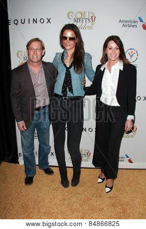 LOS ANGELES - FEB 21:  Bart Conner, Katie Holmes, Nadia Comaneci at the 3rd