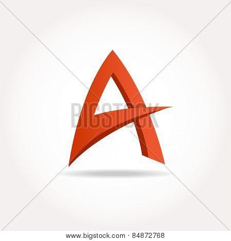 Letter A. Abstract template logo design. Vector logotype