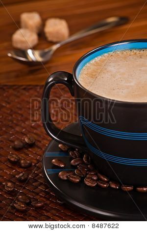 Frothy Cup Of Morning Coffee