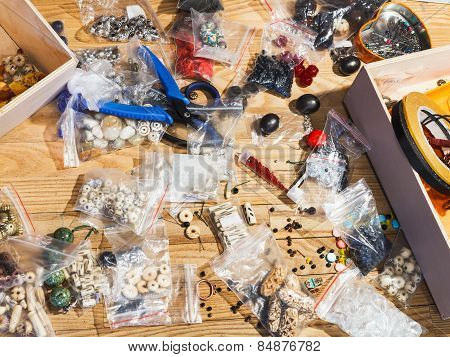 Equipment For Beads Making On Table