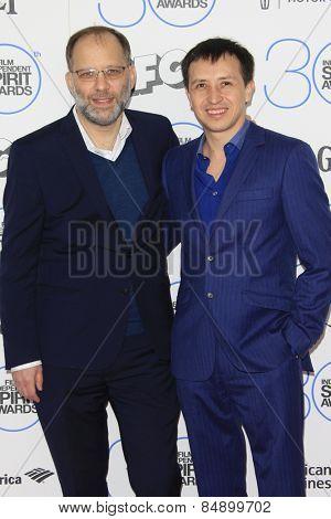SANTA MONICA - FEB 21: Ira Sachs, Boris Torres at the 2015 Film Independent Spirit Awards on February 21, 2015 in Santa Monica, California