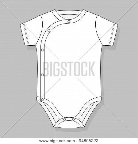 crossover baby bodysuit