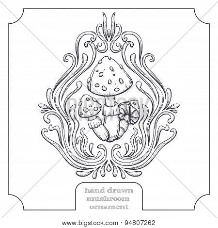 Mushroom and Abstract Pattern Five