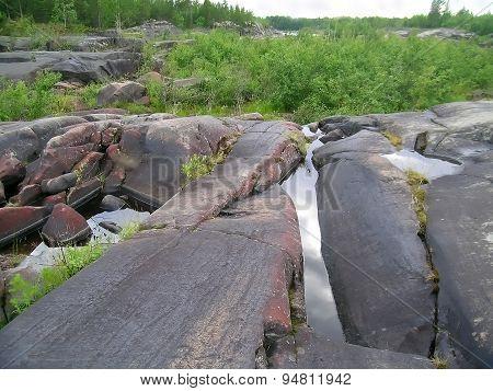 Dry riverbed, Karelia