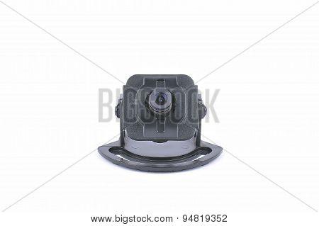 Video Surveillance Camera. Inside Of A Dome Camera