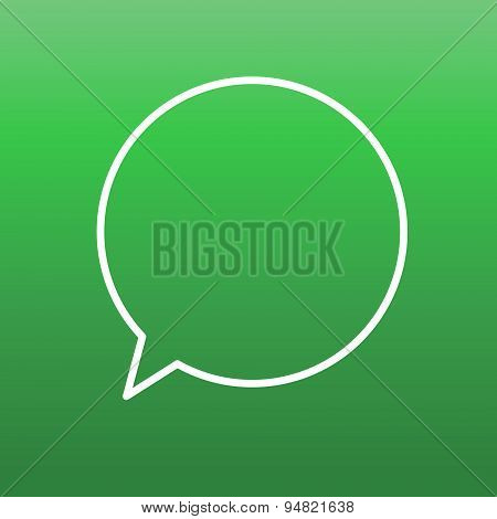 Green speech bubble icon. Design elements. Message, app, communication, business, social. Stock vect