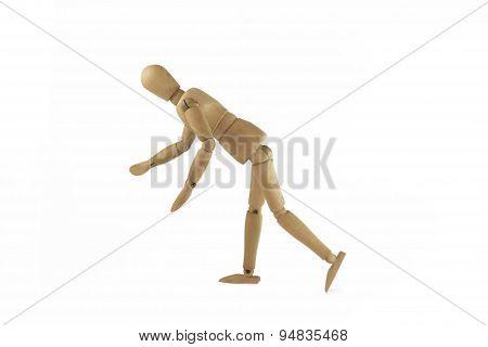 Wooden figure waver.